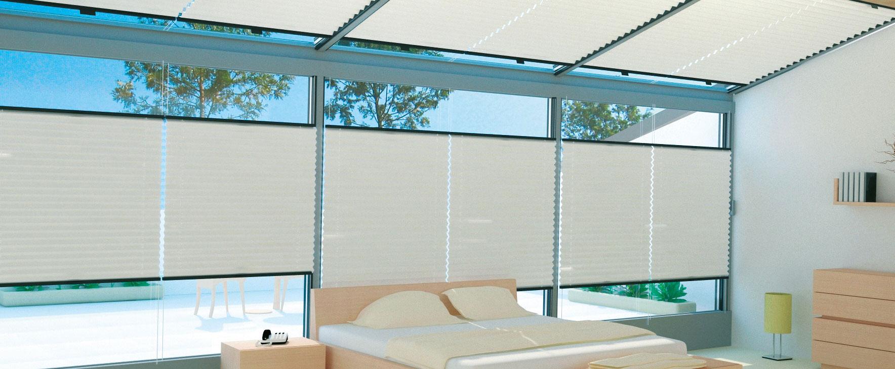 plissees ohne bohren rasche plissee montage ohne bohren per klemmen oder kleben plissee. Black Bedroom Furniture Sets. Home Design Ideas